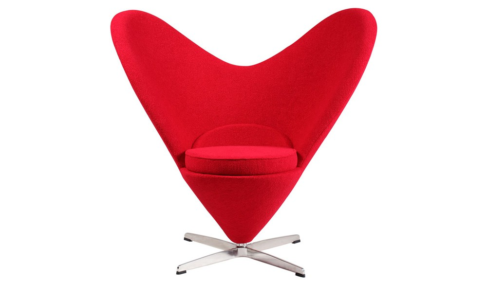 FORMAKERS Happy Valentine S Day Heart Cone Chair Verner Panton