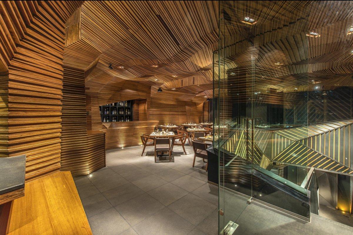 Оригинальный дизайн интерьера бара