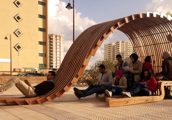 FORMAKERS GoldenSection Contouring Pavilion Pharos University New Furniture Design University