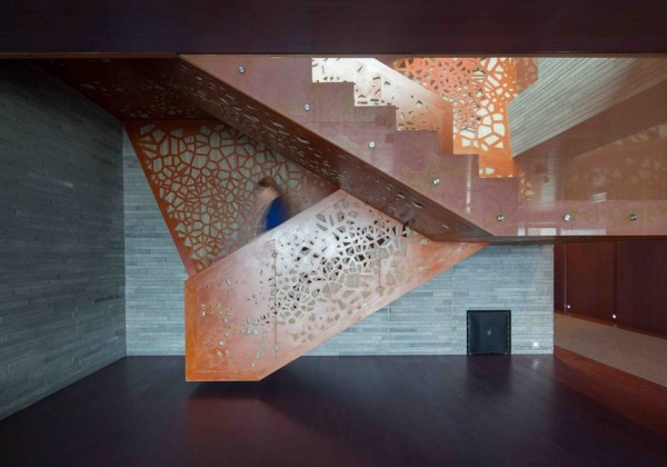Formakers 3d Perforated Copper Staircase Arup